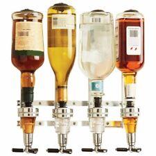 Vino de licor Dispensador montado en la pared 4-Estación máquina Bar Butler Vertedor de beber
