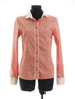 *** BOGNER JEANS *** Women's Orange checked long sleeved Casual Shirt Size 38