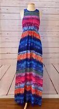 New BETSEY JOHNSON Size 6 Watercolor Chiffon Long Maxi Dress