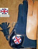 Nubuck Leather Double Skinned Falconry Glove Union Jack 12 Inch Extra Large