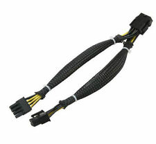 8inch CB-PCIE8-Y 8 Pin PCI-E (M) to 2 X 8(6+2) Pin PCI-E (F) Black Sleeved Cable
