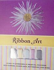 Silk Ribbon Embroidery Kit 4 Christmas Snowflakes Instruction Book Ribbons More