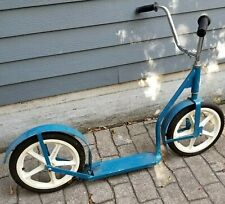 "16"" Amish Kick Scooter ~ Vibrant Blue Paint With Foot Brake-From Lancaster Pa"