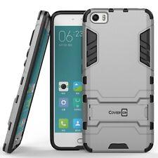for Xiaomi Mi 5 Phone Case Armor Kickstand Slim Hard Cover Silver / Black