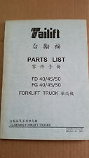 TAILIFT FORKLIFT PARTS BOOK FD/FG 40/45/50