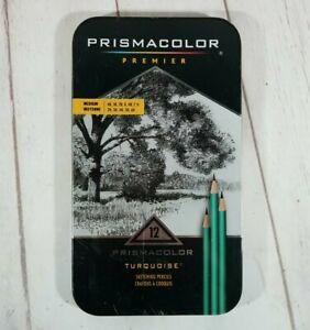 Prismacolor Premier Turquoise Graphite Sketching Pencils, Medium Leads, 12-Count