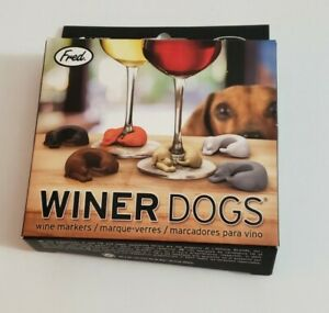 Fred Winer Dog Wine Markers Dachshunds Silicone New