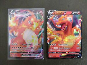 Carte pokémon DRACAUFEU Vmax - 20/189 et DRACAUFEU V 19/189, neuf