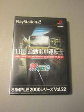 Simple 2000 Series Vol 22 Densha de Go! 3 Tsuukinhen Commuter Train PS2 Import