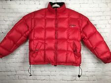Vintage POLO SPORT Ralph Lauren Down Jacket Men's Large Red Bubble Puffer Flag