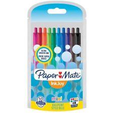 Paper Mate Inkjoy 100 Mini Retractable Ballpoint Pens - Fun Coloured Pens x 10