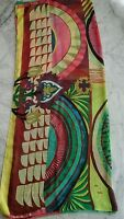 Grand foulard pareo desigual multicolore