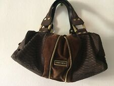 JIMMY CHOO MARLA PYTHON  AND SUEDE STUNNING BAG SZ M GREAT CONDITION, Used