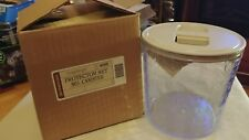 Longaberger Pottery Woven Tradition Medium Sealable Protector Hard Plastic Nib