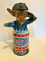 LOT OF 3 VIntage Liquor Decanters Democratic Donkey, Liberty Bell, Spirit of 76