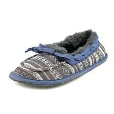 Pantofole da donna blu tessile