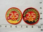Lot of 2 SWISS Fire & Rescue Batallion 25  Embroidered Patches  FREE shipping