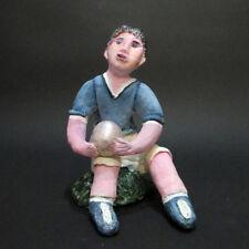 "MARIA MURGIA - ""Calciatore senza mondiali"" - Scultura in terracotta dipInta"