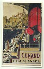 L7300 - Cunard Liner - USA & Canada - poster advert postcard