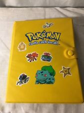 Pokemon Yellow Bulbasaur Binder /Card Holder VTG Toy Site RARE/ With Cards