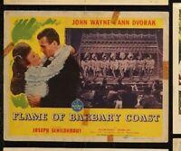 JOHN WAYNE Flame of Barbary Coast 1945 ORIGINAL MOVIE LOBBY CARD POSTER 11 x 14