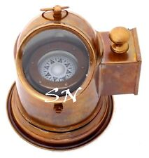 Marine Binnacle Boat Compass Brass Nautical Ship Compass Antique Gimbal Decor
