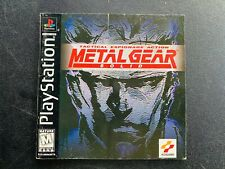 Metal Gear Solid Sony Playstation 1 One PS1 Manual Instruction BLACK 1st PRINT