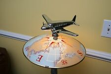 VTG Art Deco Heavy Cast Aluminum Airplane Table Lamp OVERHAULED and UPDATED