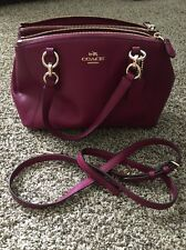 NWOT Coach F57523 Mini Christie Carryall Satchel Handbag Purse Shoulder Bag Plum