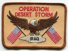 Rare US Army Operation Desert Storm Eagle Iraq Iron On Patch