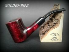 HAND MADE WOODEN TOBACCO SMOKING PIPE  PEAR no 14  POKER  Red  + Filter