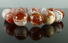 Chunky Crab Fire Agate GEMSTONE Crystal Beaded Stretch BRACELET 14mm