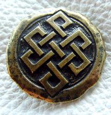 Auffällige Ziernieten Celten Knoten Budah Knoten Wikinger Farbe Altmessing Neu