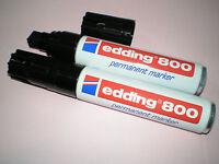 2 Stück Edding 800 Permanent-Marker schwarz Keilspitze 4-12 mm Filzstift NEU