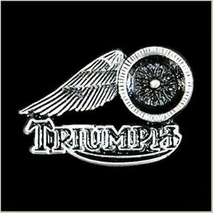 NEW SUPERB QUALITY WINGED TRIUMPH MOTORCYCLE PIN BIKER BADGE