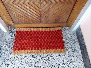 Outdoor Doormat Natural Coir Coconut Fiber Non Slip Entrance Floor Rug c2_2