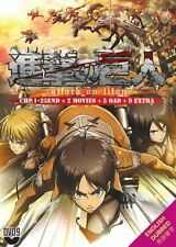DVD Attack On Titan TV1-25End English Dubbed + 2Movie + 5OAD + 9Extra JapanDub