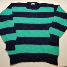 Vtg Filling's Wool Sweater 2XL Striped Shetland Lawrence Smith Lancaster T13
