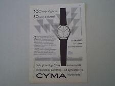 advertising Pubblicità 1958 OROLOGIO CYMA CYMAFLEX