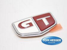 "JDM OEM Genuine NISSAN SKYLINE R33 GTR GT-R Fender RED ""GT"" Emblem Badge"