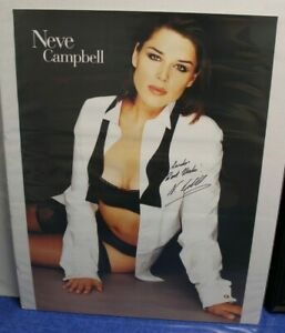 23.5 x 33 Neve Campbell Autographed Poster