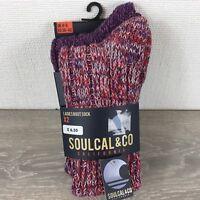 Soul Cal Ladies Boot Socks 2 Pairs UK 4-8 EU 36-42  A363-21