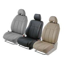 Clazzio Custom Fit Leather Seat Covers Black - 350Z 370Z - Front Row Seats Only