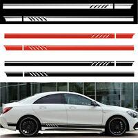 2pcs Car SUV Vinyl Side Body Racing Graphics Decal Sticker Car Long Stripe DIY #