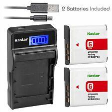 LCD 3 USB Charger & Battery for Sony NP-BG1 FG1 Type G Cybershot DSC-HX5V W220
