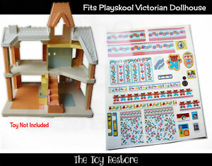 The Toy Restore Replacement Stickers fits Vtg Playskool Victorian Dollhouse