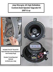 Jeep Wrangler JK Premium High Def Dash/Front Speaker Upgrade Kit 2007-2018