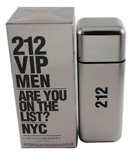 212 VIP NYC By Carolina Herrera for Men EDT Spray 3.4/3.3 oz New In Box