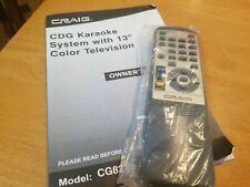 CRAIG  KARAOKE SYSTEM Remote Control and manual