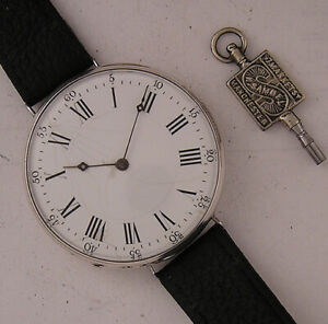 SUPERB Cylindre French 150 Years Old SILVER Wrist Watch A+ Just Serviced